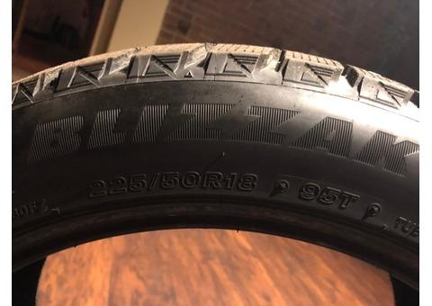 4 Bridgestone Blizzak Winter Tires